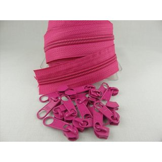 Zipper 5 mm Spirale pink