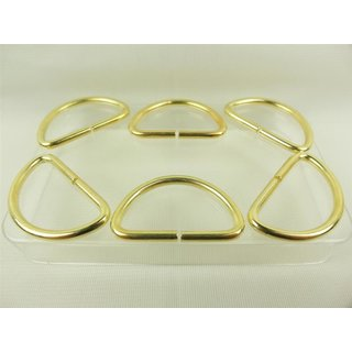 D-Ring / Halbring  leichtes Model 20 mm gold