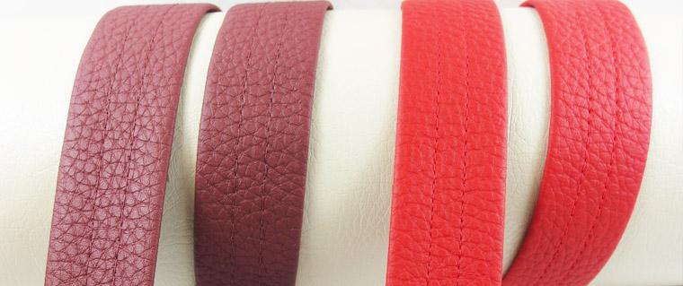 Neue Farben Kunstleder-Gurtband 30mm