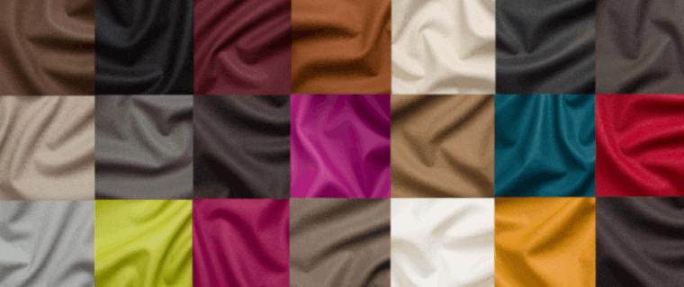 Kunstleder in verschiedenen Farben